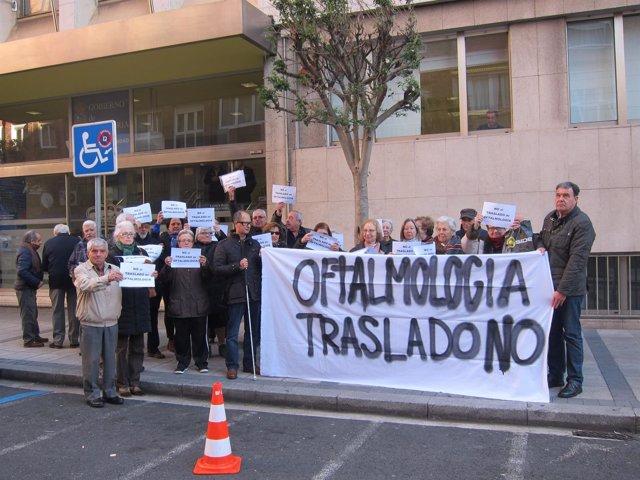 Movimiento contra el traslado de Oftalmología