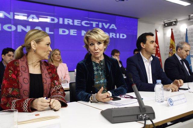 Cristina Cifuentes, Esperanza Aguirre y Fernando Martínez-Maíllo