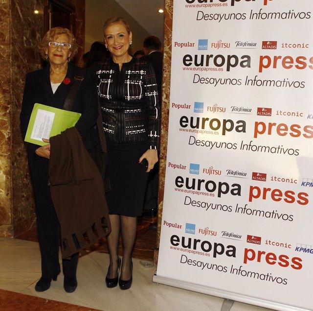 Cristina Cifuentes en los Desayunos de Europa Press con Manuela Carmena