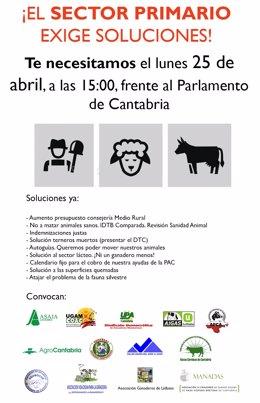El Sector Primario De Cantabria Convoca Una Concentración Multitudinaria, El 25
