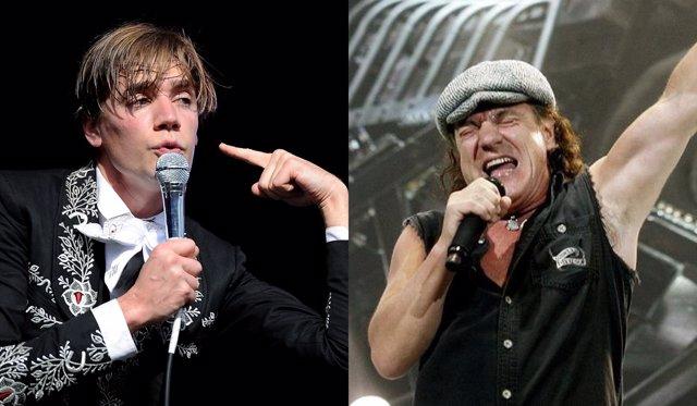 Pelle Almqvist (The Hives) y  Brian Johnson (AC/DC)