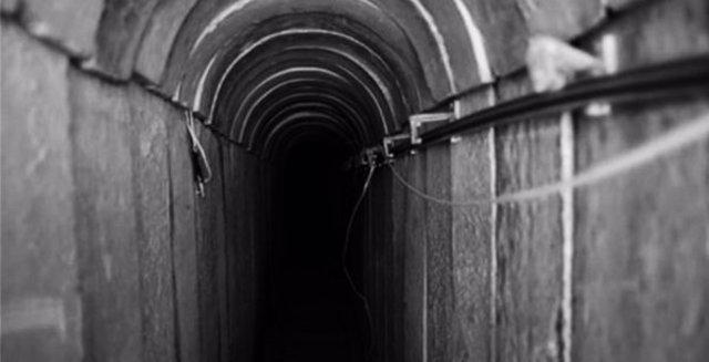 Imagen de un túnel descubierto por las Fuerzas de Defensa de Israel