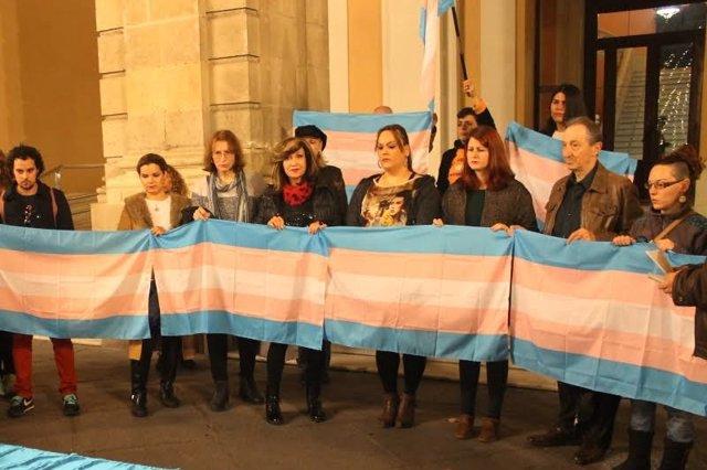 Apoyo a la celebración del día del orgullo trans.