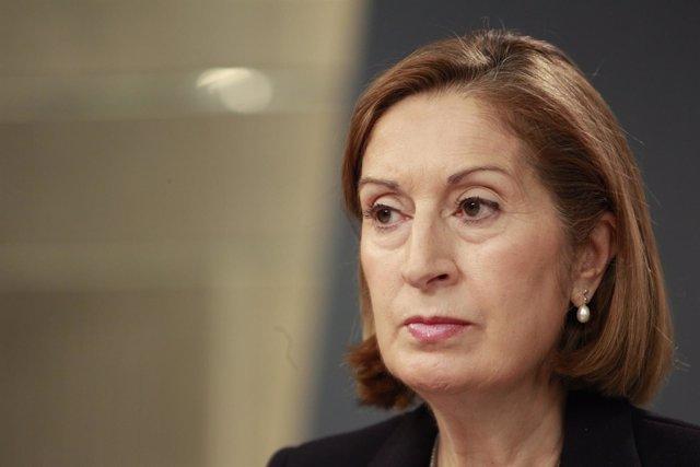 Ana Pastor tras el Consejo de Ministros