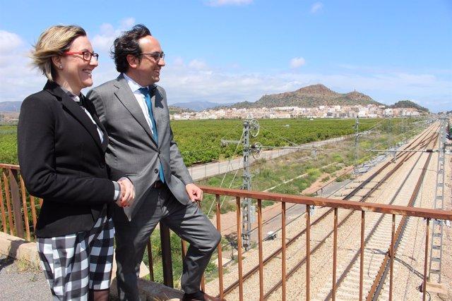 Salvador y Rull visitan las obras del Corredor