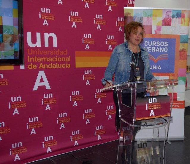 La vicerrectora del Campus de La Rábida de la UNIA, Yolanda Pelayo.