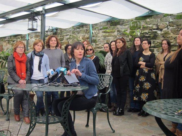La portavoz nacional del BNG, Ana Pontón, anuncia su candidatura