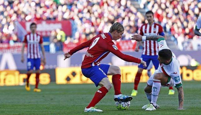 Fernando Torres en el Atlético de Madrid-Granada