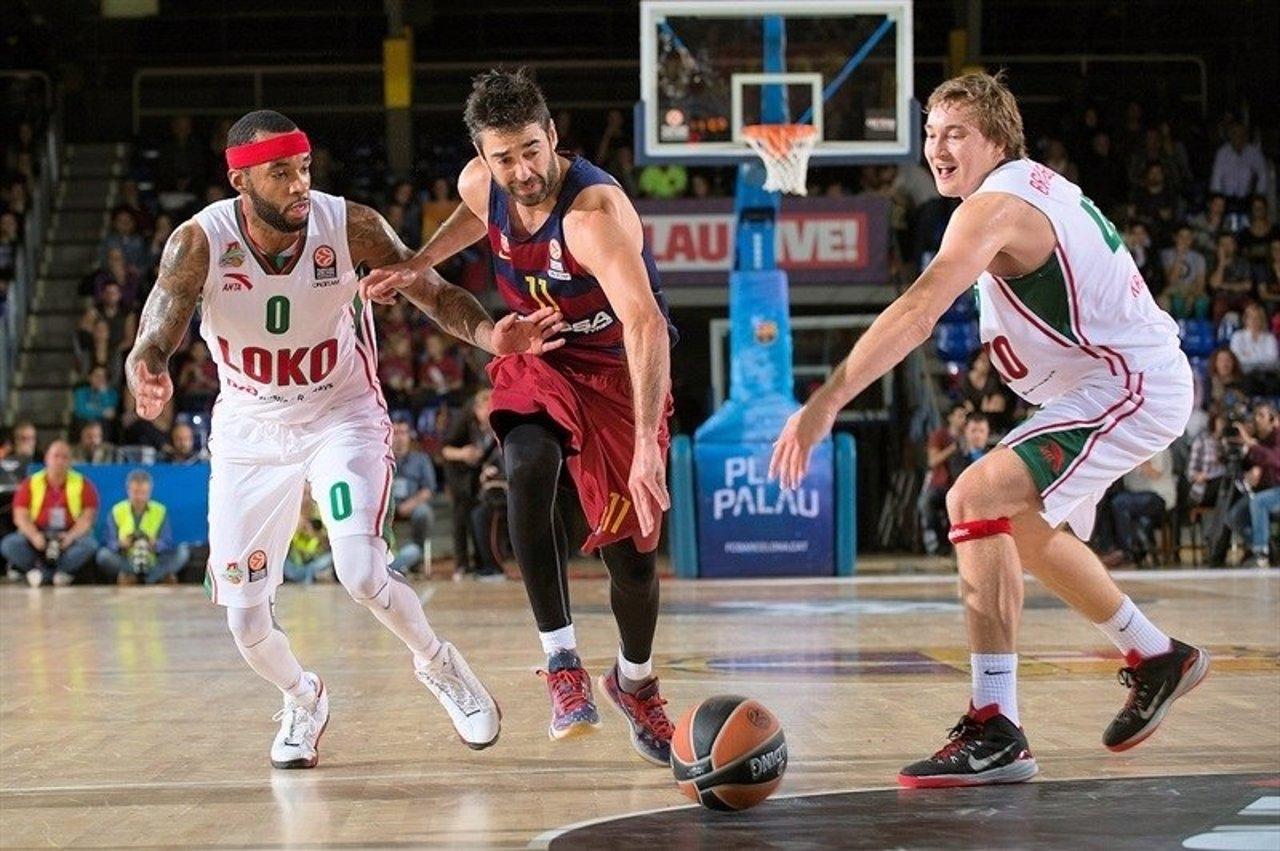 Navarro en el Barcelona - Lokomotiv Kuban