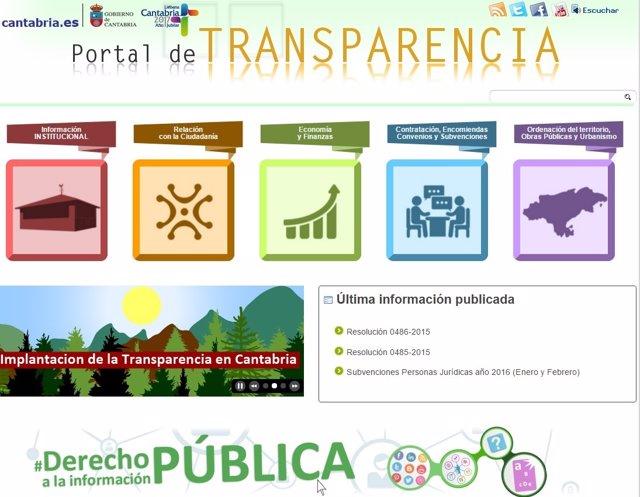 Portal de Transparencia del Gobierno de Cantabria