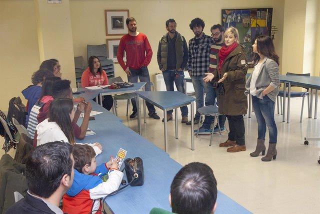 Encuentro con los jóvenes del taller