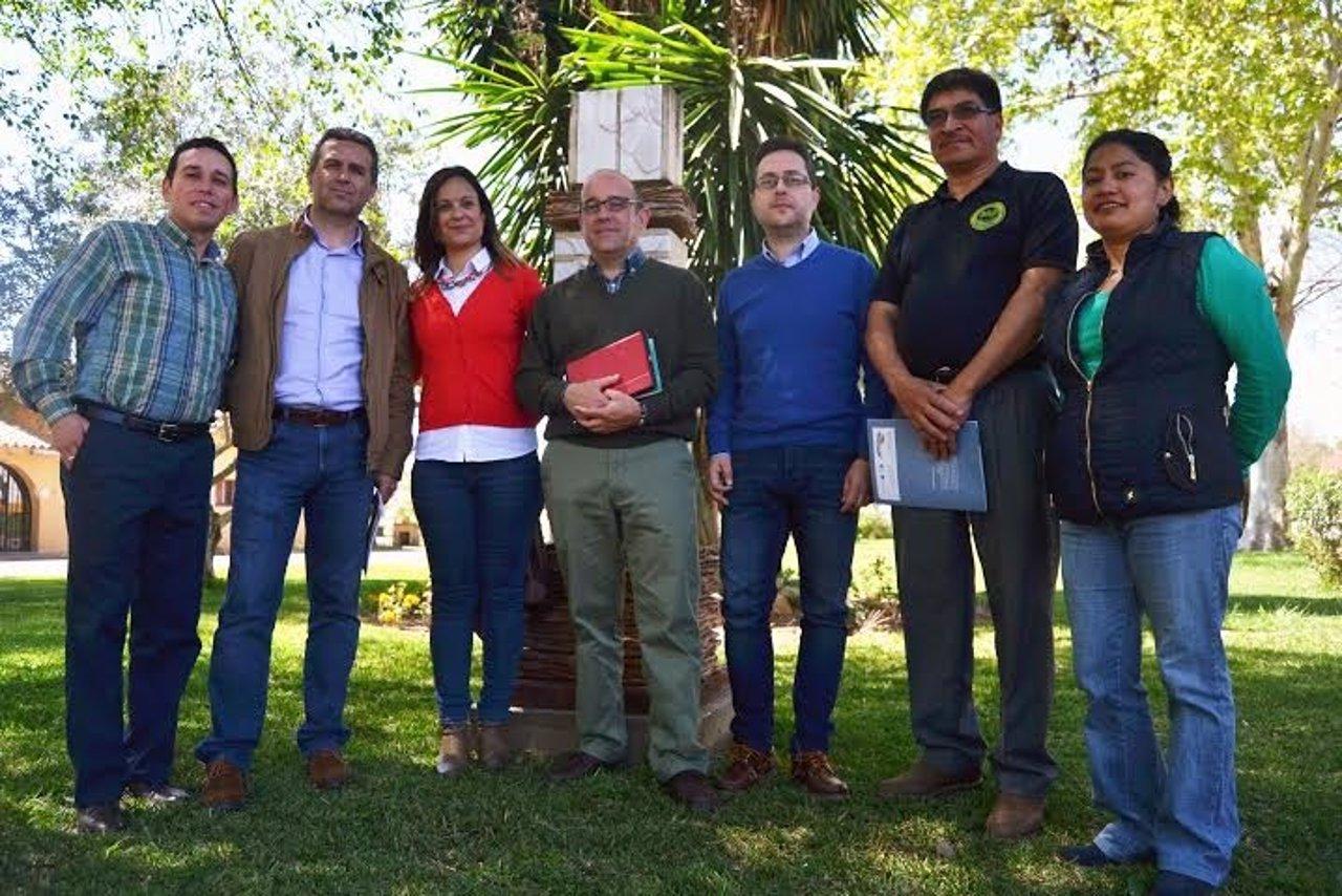 Guijarro y Sánchez (izda.) durante el taller