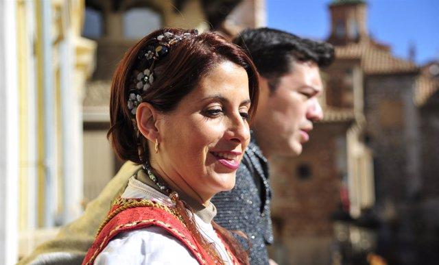 La alcaldesa de Teruel, Emma Buj, en la Fiesta de los Amantes.