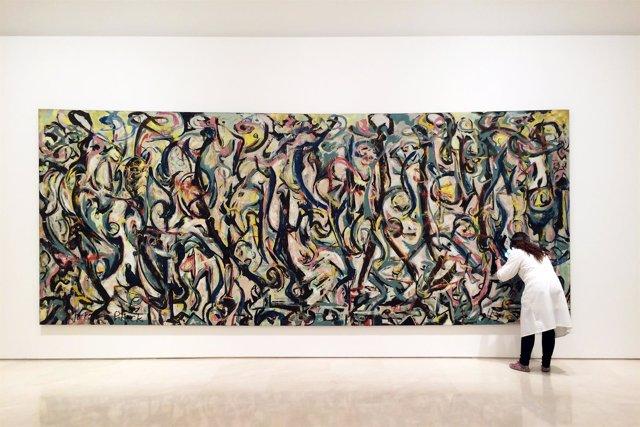 El Mural de Pollock en el Museo Picasso Málaga
