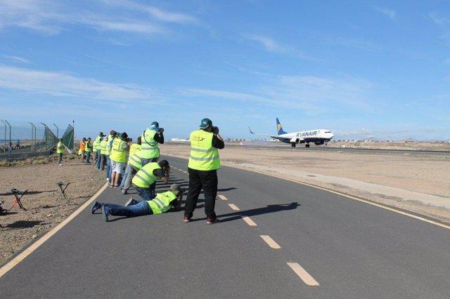 El Aeropuerto de Lanzarote celebra el II Open Day ACE para spotters