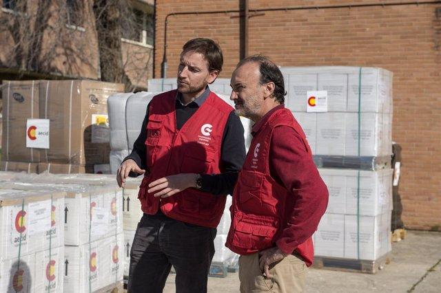 El secretario de Estado de Cooperación Internacional, Jesús Gracia, en Torrejón