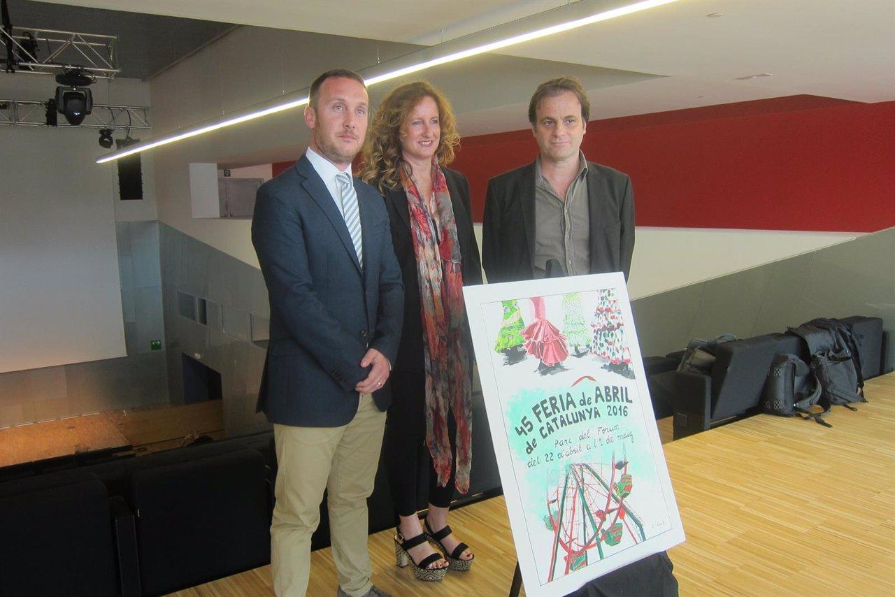 Daniel Salinero, Elisenda Llonch y Jaume Asens