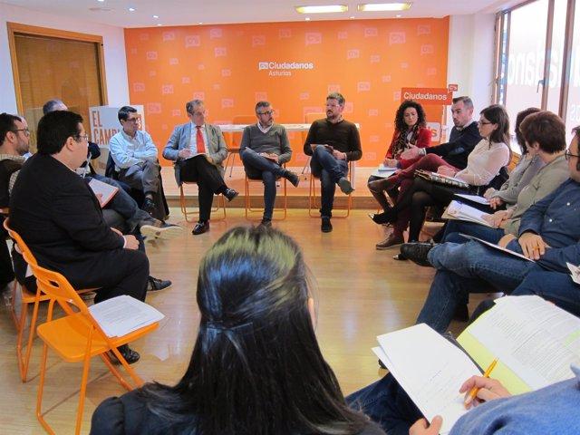 Reunión de trabajo de Ciudadanos sobre el área metropolitana de Asturias