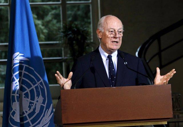 El enviado especial de la ONU a Siria, Staffan de Mistura.