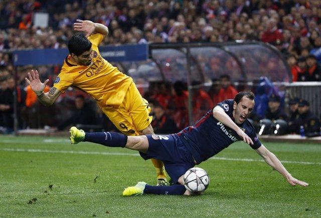 Luis Suárez Diego Godín Atlético Barcelona vuelta cuartos Champions
