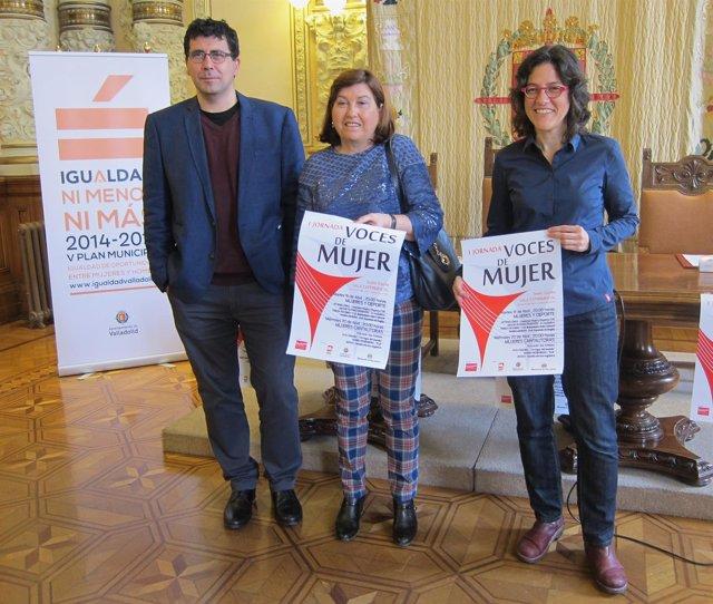Alberto Bustos, Vicky Soto y María Luisa López Municio presentan 'Voces de Mujer
