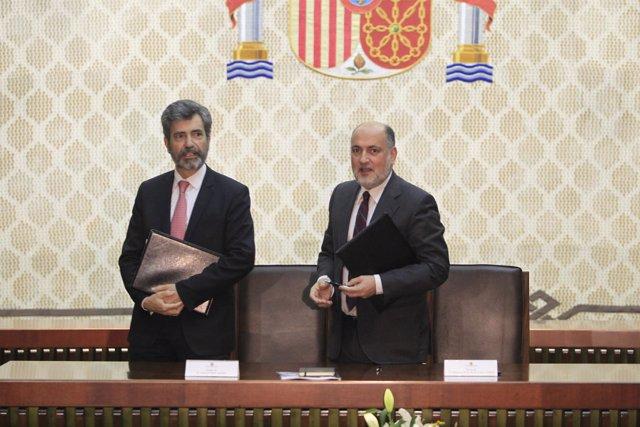 Carlos Lesmes y Francisco Pérez de los Cobos