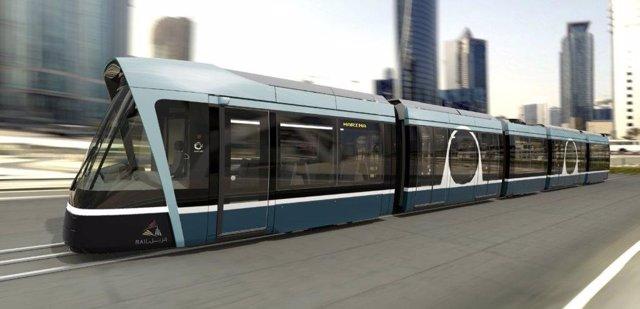 Tranvía que Alstom suministrará a Qatar