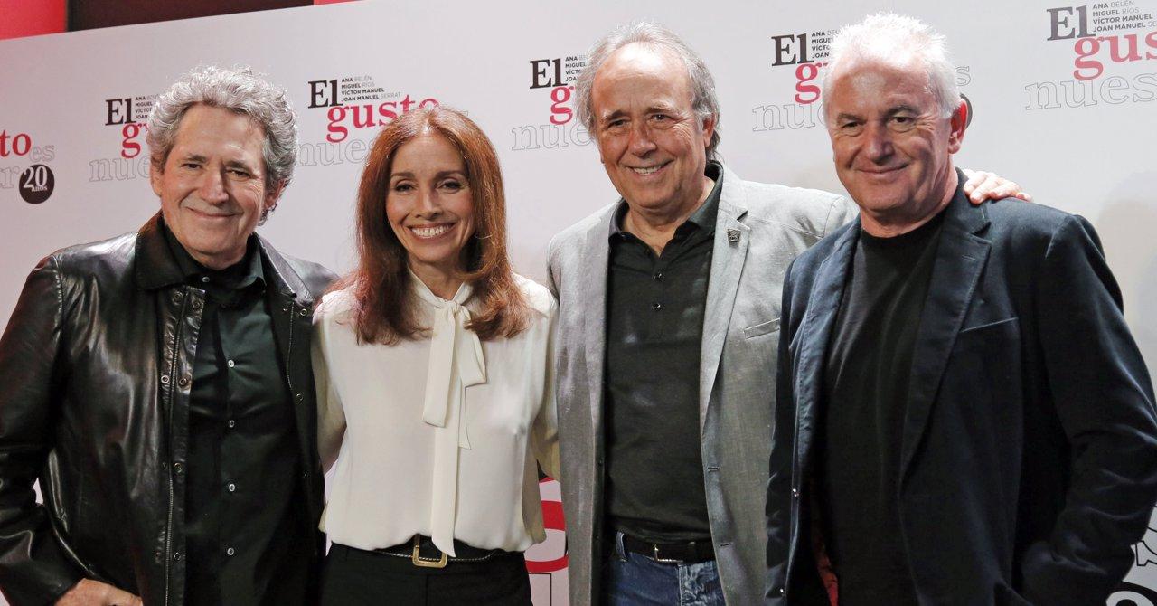 ANA BELÉN, VÍCTOR MANUEL MIGUEL RÍOS Y JOAN MANUEL SERRAT