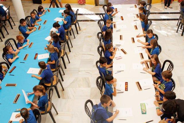 Niños preparados para la prueba