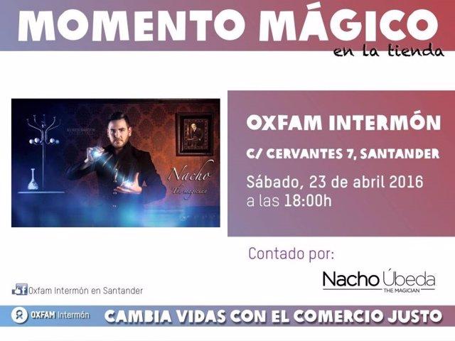 Cartel de la actuación del mago Nacho