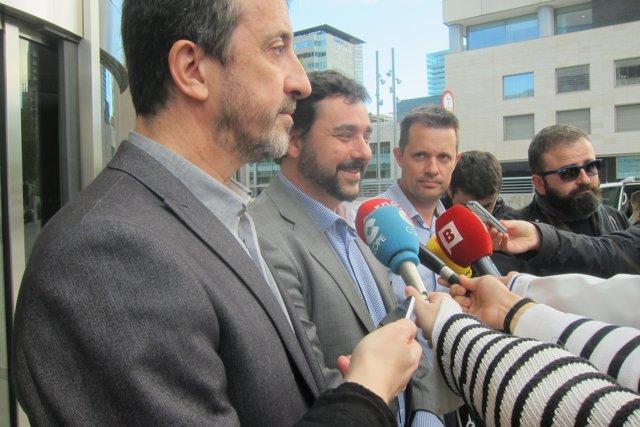 J.Sánchez (Ayuntamiento) y F.Iglesies (Generalitat)