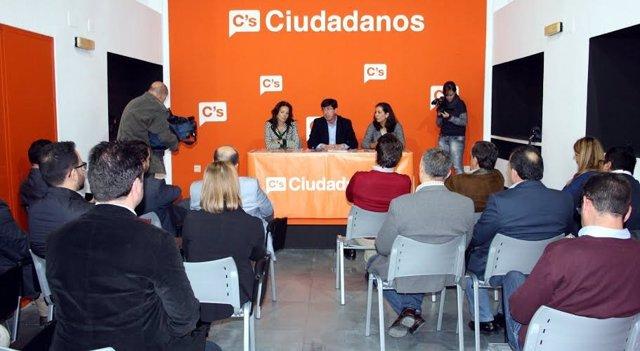 El presidente de Ciudadanos, Juan Marín.