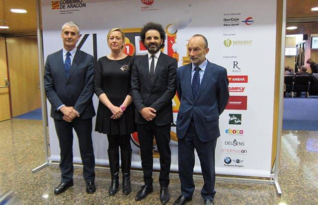 Juan Carlos Sánchez, Marta Gastón, Antonio Becerril y Ramón Tejedor.