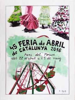 Cartel de la 45 Feria de Abril de Catalunya 2016