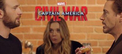 Capitán América vs Iron Man: La Civil War empezó por un donuts (Vídeo)