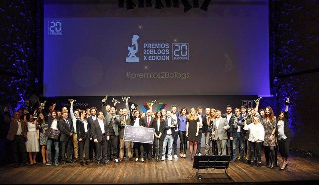 X edición de los Premios 20Blogs organizados por '20minutos'