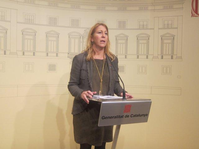 La portavoz del Govern, Neus Munté, en rueda de prensa