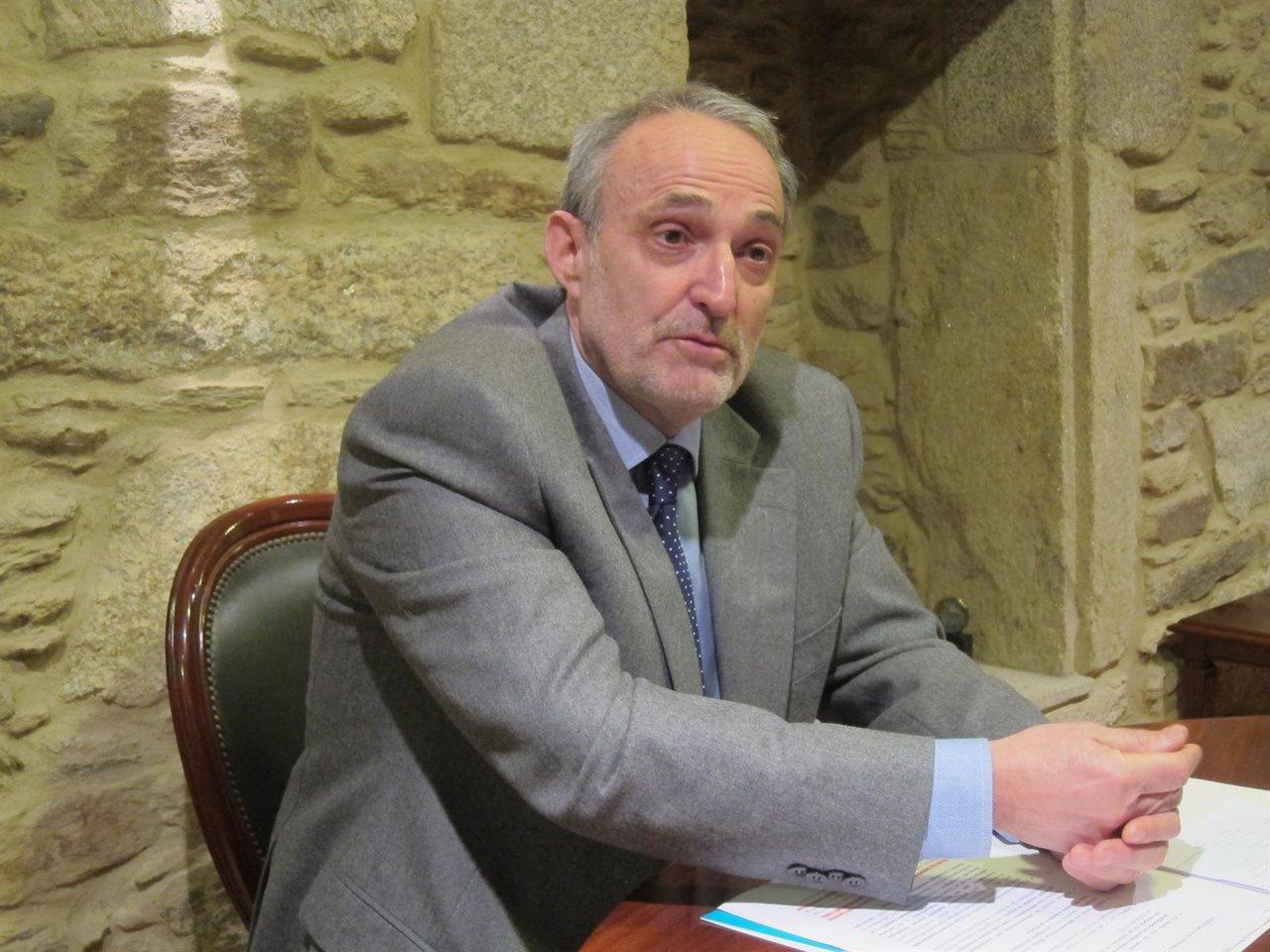 El presidente de la patronal gallega, Antonio Dieter Moure
