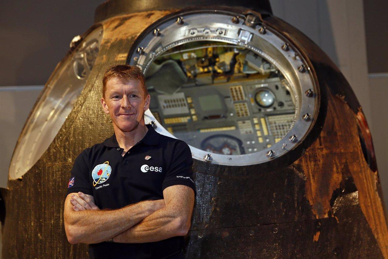 El astronauta británico Tim Peake