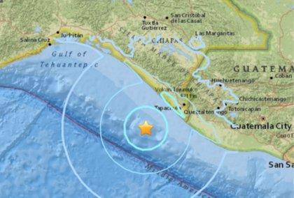 Registrado un terremoto de magnitud 5,6 frente a la costa de México