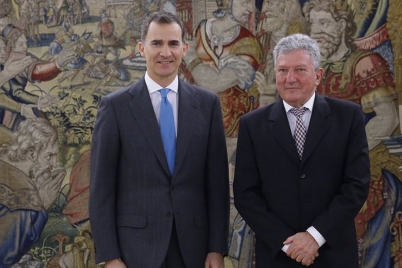 El Rey con Pedro Quevado