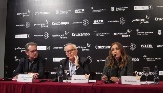 Ramón Colom en rueda de prensa de Fapae en el Festival de Cine de Málaga