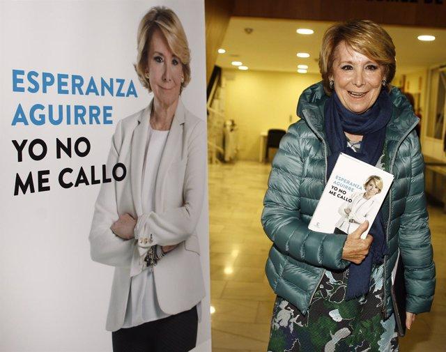 Esperanza Aguirre presenta a los medios de comunicación su libro Yo no me callo