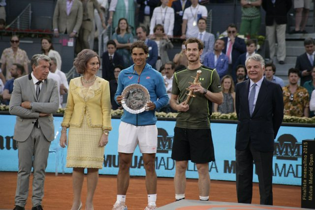 Manuel Santana, Reina Sofía, Rafael Nadal, Andy Murray, final mutua Madrid open