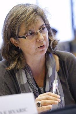La eurodiputada de IU Paloma López