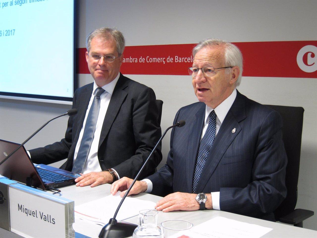 Joan Ramon Rovira y Miquel Valls (Cámara de Comercio de Barcelona)