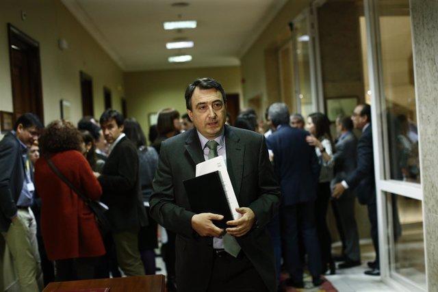 El portavoz del PNV, Aitor Esteban, acude a la junta de portavoces del Congreso