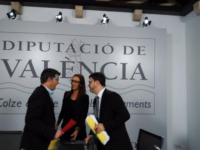 Altur, Amigó y Rodríguez presentan el PPOS 2016 de la Diputación de Valencia