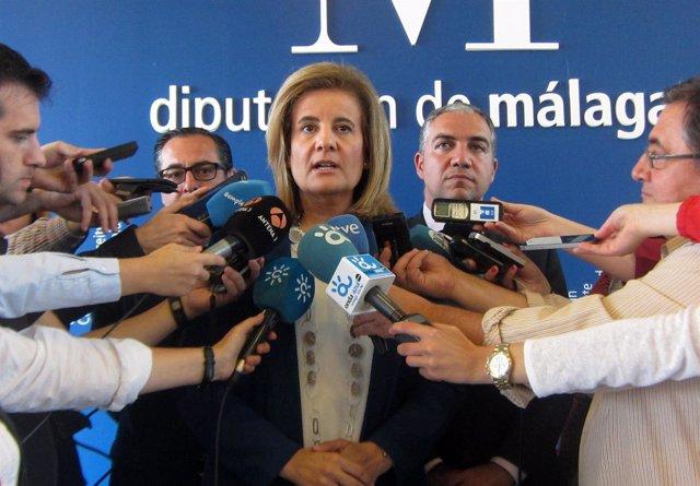 La ministra de Empleo y Seguridad Social, Fátima Báñez, en Diputación de Málaga