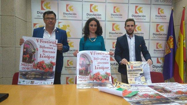 Gómez, acompañada por Ruiz (izda.) y Padilla, durante la presentación del evento